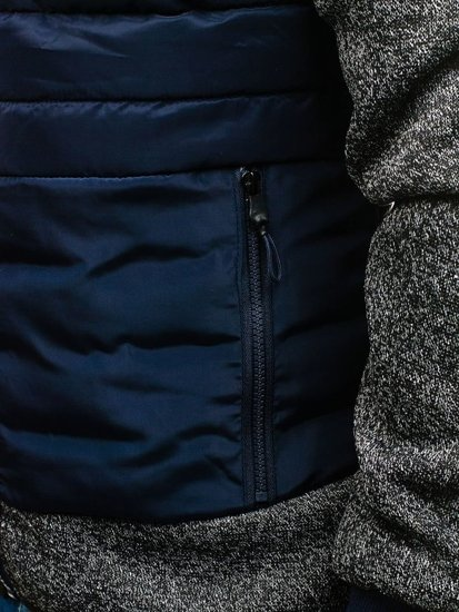 Tmavomodrá pánska športová bunda BOLF AK73Z