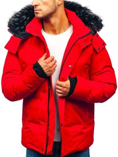 Červená pánska zimná bunda BOLF 201821