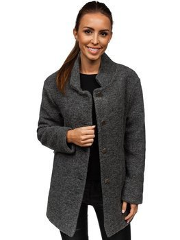 7808582ec460 Antracitový dámsky kabát BOLF 1950