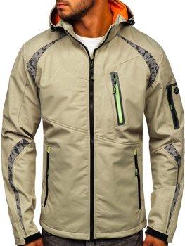 Béžová pánska softshellová bunda Bolf 2251