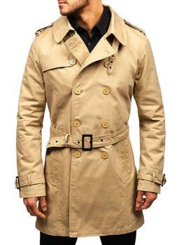 5167c6a4b Tmavomodrý pánsky plášť BOLF 5710