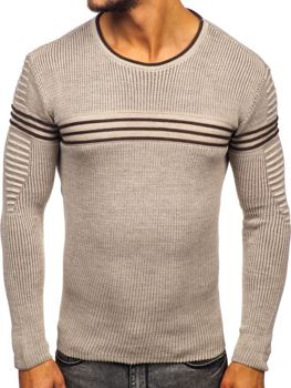 Béžový pánsky sveter Bolf 0001