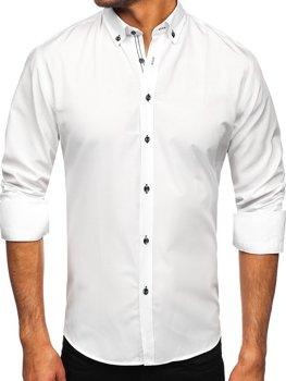 Biela pánska košeľa s dlhými rukávmi Bolf 20720