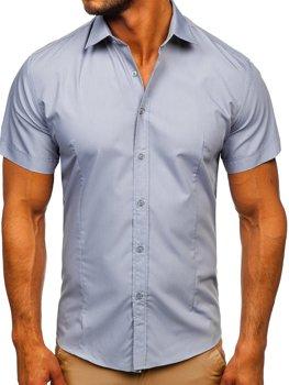 Biela pánska košeľa s krátkymi rukávmi Bolf 17501