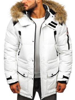 Biela pánska zimná bunda Bolf  5948