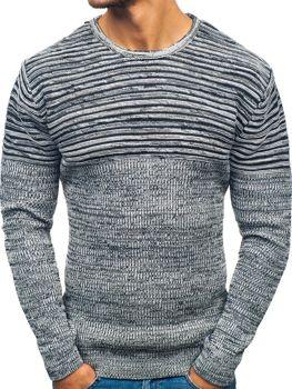 Bielo-čierny pánsky sveter BOLF 156