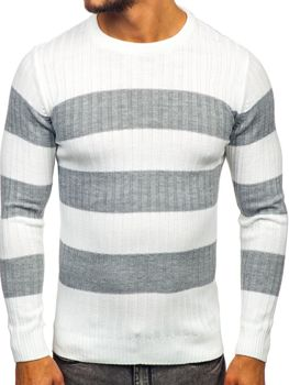 Biely pánsky sveter Bolf 4516