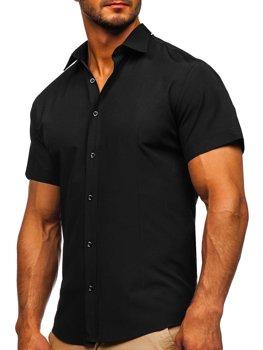 Blankytná pánska košeľa s krátkymi rukávmi Bolf 17501