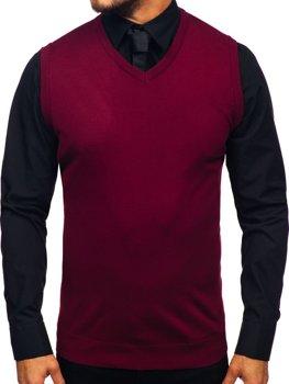 Bordová pánska pletená vesta Bolf 2500