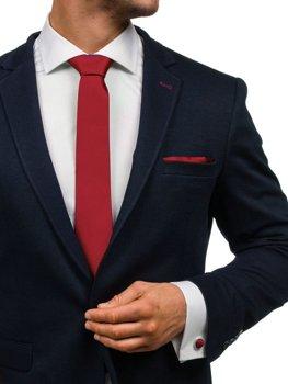 Bordová pánska sada: kravata, manžety, kapesník BOLF KSP01