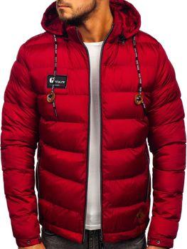 Bordová pánska športová zimná bunda Bolf 50A200