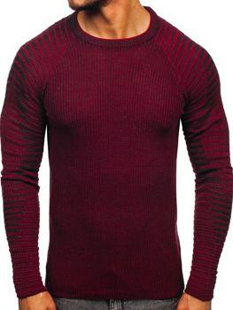 Bordový pánsky sveter Bolf 0002