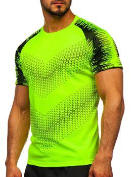 Celadenové pánske tréningové tričko s potlačou Bolf KS2061