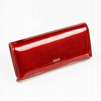 Červená dámska kožená peňaženka 887