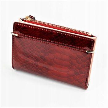 Červená dámska koženková peňaženka 1054