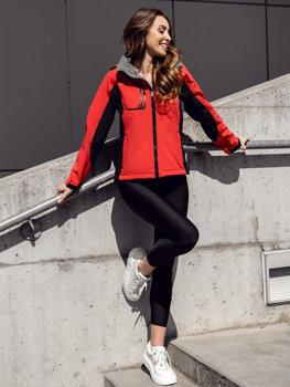 Červená dámska softshellová prechodná bunda Bolf 3077