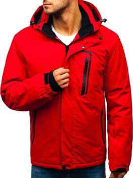 Červená pánska lyžiarska zimná bunda BOLF HZ8107