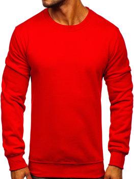 Červená pánska mikina bez kapucne Bolf 2001