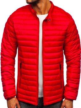 Červená pánska prešívaná prechodná bunda Bolf 1138