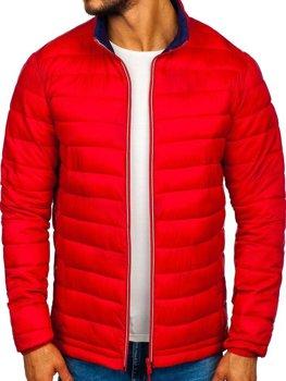 Červená pánska športová prechodná bunda Bolf LY1017