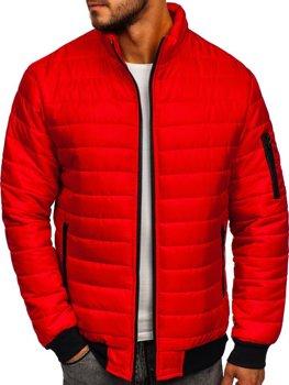 Červená pánska športová prechodná bunda Bolf MY22