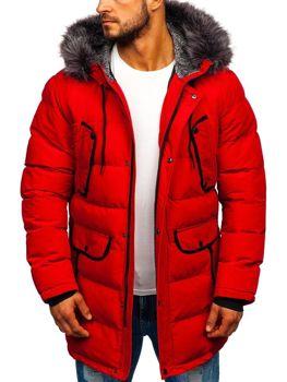 Červená pánska zimná bunda parka Bolf 1091