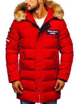 Červená pánska zimná párka Bolf 5970