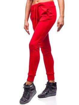 Červené dámske tepláky BOLF WB11003
