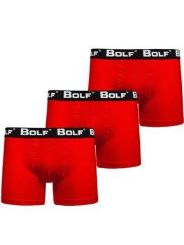 Červené pánske boxerky 0953-3P 3ks Bolf