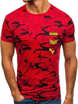 Červené pánske tričko s potlačou BOLF SS331