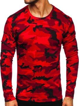 Červený pánsky maskáčový nátelník s dlhými rukávmi Bolf 2088-1