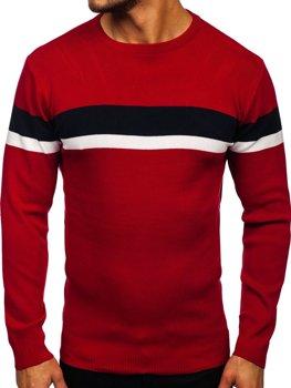 Červený pánsky sveter Bolf H2072