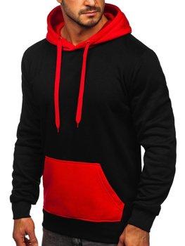 Čierna/červená pánska mikina s kapucňou Bolf LM77001