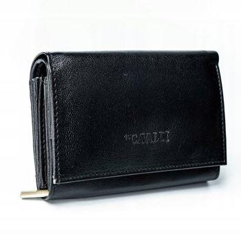 Čierna dámska kožená peňaženka 2780
