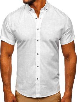Čierna pánska košeľa s krátkymi rukávmi Bolf 20501