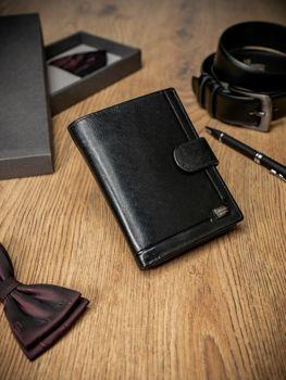 Čierna pánska kožená  peňaženka 212
