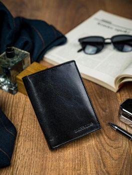 Čierna pánska kožená peňaženka 4593