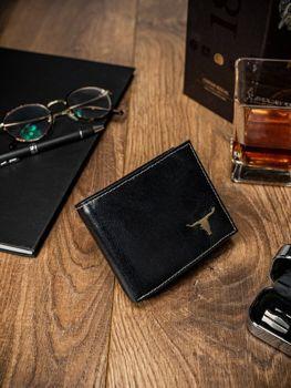 Čierna pánska kožená peňaženka 51