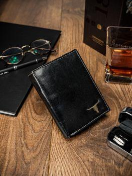 Čierna pánska kožená peňaženka 60