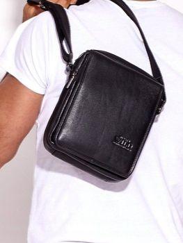 Čierna pánska kožená taška 3007