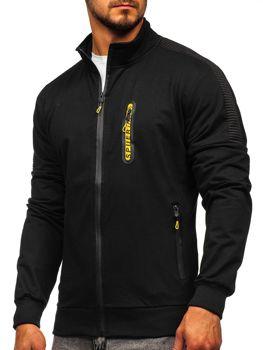 Čierna pánska mikina na zips bez kapucne Bolf JX9827