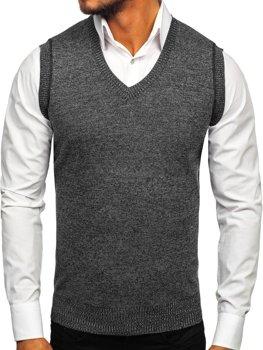Čierna pánska pletená vesta Bolf 8121