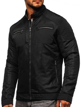 Čierna pánska prechodná bunda BOLF 1702