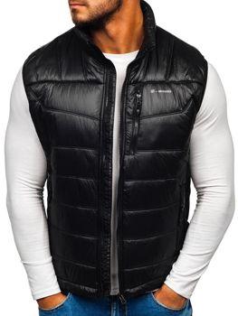 Čierna pánska prešívaná vesta BOLF K002