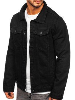 Čierna pánska rifľová bunda Bolf 2-3