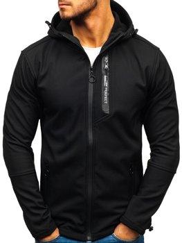 Čierna pánska softshellová prechodná bunda Bolf 5480-A