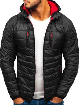 Čierna pánska športová prechodná bunda BOLF LY1019