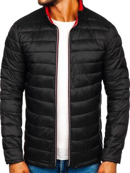 Čierna pánska športová prechodná bunda Bolf LY1017