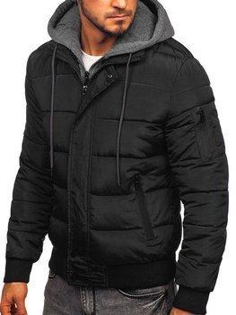 Čierna pánska športová zimná bunda Bolf JK386