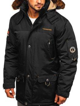 Čierna pánska zimná bunda Bolf 40014